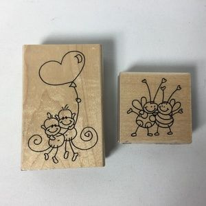 Stampendous Mounted Rubber Stamps Bees Monkeys